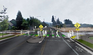 RRFB crossing illustration