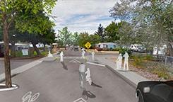 Raised Crosswalk illustration